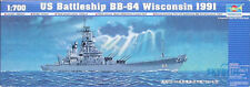 Trumpeter 1/700 U.S. Battleship BB-64 Wisconsin 1991 #05706 #5706 *Sealed*New*