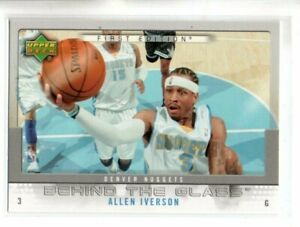 2007-08 UD FIRST EDITION ALLEN IVERSON BEHIND THE GLASS