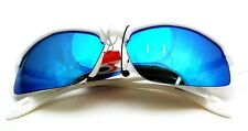 UV48091 Blue RV Polarized for Man and Woman Sports Sunglasses in while frame