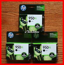 * Lot of 3 * Genuine HP 950XL Black Ink Cartridges HP OfficeJet Pro 8100 8600