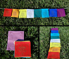 8 Flags EIGHT AUSPICIOUS SYMBOLS Tibetan Buddhist Prayer Flags Cotton Handmade