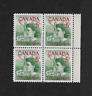 1961 Canada - Block of Four - Pauline Johnson Mohawk Poet - MNH.