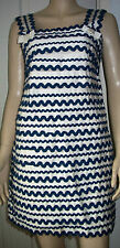 FRENCH CONNECTION Navy Cream Layered Sleeveless Lined Party Dress Size 10