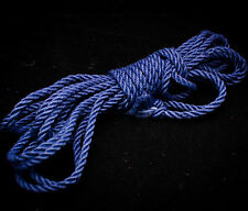 Beautiful Royal Blue Romanian Hemp Shibari Bondage Rope  - 6mm X 28 Ft.