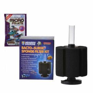 Hikari Aquarium Solutions Sponge Bacto-Surge Foam Filter Large up to 75 Gallons