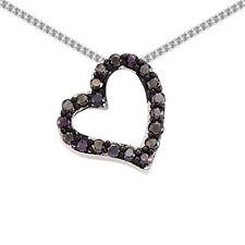 Gioielli di lusso con cuore in argento sterling zircone
