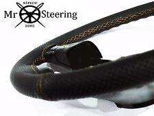 Pour Lotus Cortina MK2 Perforé Housse Volant Cuir Jaune Double STT