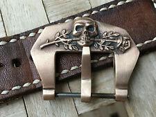 24 mm bronze watch buckle.Handmade ,Scull&Rose .Brushed finish .Panerai heritage