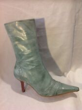 Faith Green Mid Calf Leather Boots Size 5