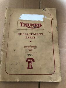 Triumph Motor Cycles Replacement Parts Cat. 1956 Speed Twin Thunderbird, Tiger