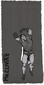 MR CLEVER ART LOCKDOWN PUPPET PINK HUE ROPES street art graffiti pop urban deco