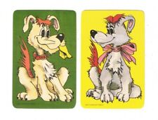 Swap Cards / Blank Backs - Cute Dogs - 1970's Collectible Pair #3