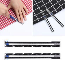Aluminum Plastic Sewing Accessories Seam Ruler Measuring Gauge Tailor Ruler