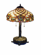 """Tiffany Style Handcrafted Baroque Style Table Lamp 16"""" Shade"""