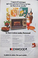 PUBLICITÉ DE PRESSE 1980 KENWOOD LE FOUR À MICRO - ONDES - ADVERTISING
