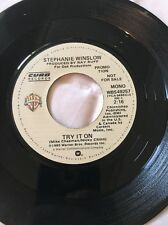 "VTG 45 STEPHANIE WINSLOW ""Try It On"" 1980 Rare Country Promo Vg+!"