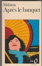 """"""" Après Le Banquet """" Yukio Mishima . Japon . R.Slocombe en couverture .1981"""