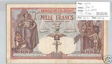 BANCA DELL''ALGERIA 1000 FRANCHI 7.3.1938 ALFABETO Z.136 MOLTO RARO