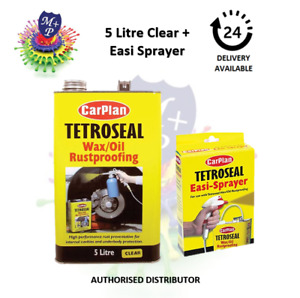 Carplan Waxoyl Rustproof Protector CLEAR 5L & Easi Spray Gun - Tetroseal Wax Oil