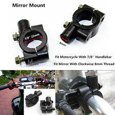 22mm Handlebar 8mm Mirror Mount holder clamps Motorcycle Motorbike Scooter