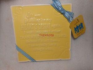 Hallmark Wizard of Oz Ceramic Plaque Heart's Desire