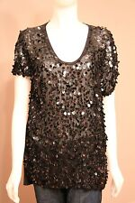 BCBG MaxAzria Oversized Sequin Shirt Top Blouse Small S