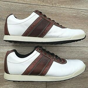 FOOTJOY CONTOUR CASUAL 54077 LEATHER WATERPROOF SPIKELESS MENS GOLF SHOES 12 EUC