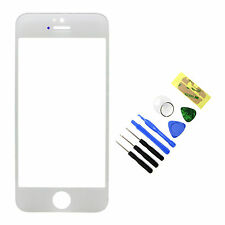 Replacement Front Outer Screen Glass Lens for Apple iPhone 5 5S White + Tools