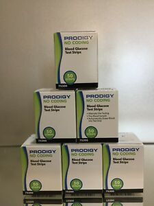 Prodigy NO CODING Diabetic Blood Glucose 300 Test Strips (6 boxes) EXP 02/2022