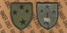 US Army 23rd Infantry Division AMERICAL OD Green & Black BDU uniform patch m/e