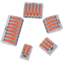 2/3/4/5/8 Way Reusable Spring Lever Terminal Block Electric Cable Wire ConnectZT