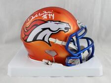 DeMarcus Ware Autographed Denver Broncos BLAZE Mini Helmet- JSA W Auth *White