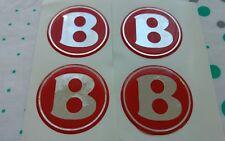 ***Bentley/chrysler wheel set gel domed 54mm***red /mirrored Chrome