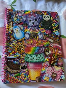 Lisa Frank Boopsidoodle Puppy with Ice Cream Sweets Glitter Spiral Notebook new!