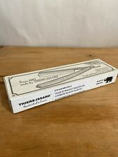 """Thiers Issard Straight Razor 5/8"""" Carbon Black Plastic Handle New In Open Box"""