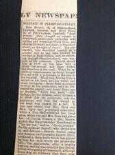 K3-1 Ephemera 1897 Article Court Case Man Waylaid In Stamford Street London