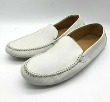 New John Lobb Mens Debranded White Suede Moccasins/Travel/Home Shoes US 6 UK 5