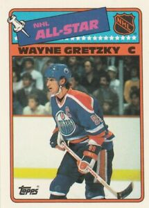 1988-89 TOPPS STICKER #8 WAYNE GRETZKY, OILERS, NRMT/MT