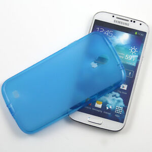 5 x BLUE SAMSUNG GALAXY S4 SOFT GEL TPU SILICONE RUBBER CASE: FROSTED BACK M57