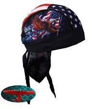 Eagle FLAG BANDANA Panno headwrap biker chopper CAP v2 HARLEY USA 1% Rocker