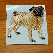 Iron On PUG DOG PUPPY Applique Embroidered Patch PETS ANIMAL Free Shipping