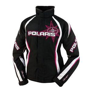 Polaris Stellar Snow Machine Mobile FXR Racing Jacket Women's Small Black Pink