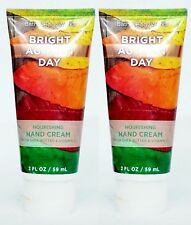 2 Bath Body Works BRIGHT AUTUMN DAY Nourishing Hand Cream Lotion Moisture 2 oz