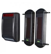 Sirena & vigas (totalmente Solar Powered sistema de alarma de perímetro inalámbrico)