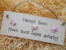 Girls Bedroom Door Plaque Any Name Any Colour