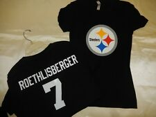 0925 Womens Pittsburgh Steelers BEN ROETHLISBERGER Football Jersey Shirt New