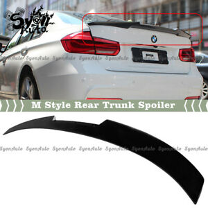 FIT 12-2018 BMW F30 & 15-18 F80 M3 GLOSSY BLACK M4 STYLE DUCKBILL TRUNK SPOILER