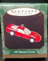 1997 Corvette Miniature Hallmark Keepsake Magic Christmas Ornament T89