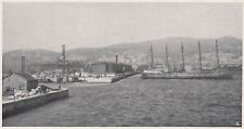 D6746 Genova - Cisterne degli Olii Minerali nel Porto - Stampa - 1930 old print
