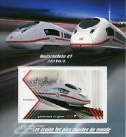 Trains Rail Stamps 2018 MNH High Speed Train DeutscheBahn ICE Railway 1v M/S